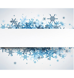 Winter background with blue snowflakes vector image