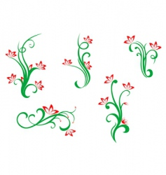 Floral and flowers vector