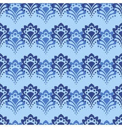 Seamless blue flowers vector