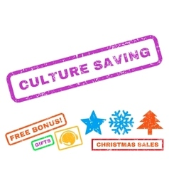 Culture saving rubber stamp vector