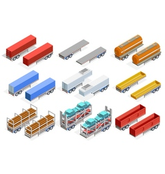 Trailers Isometric Set vector image