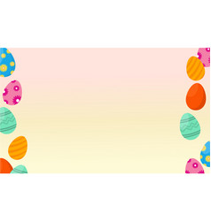 Greeting card of easter egg collection vector
