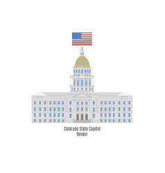 Colorado state capitol vector