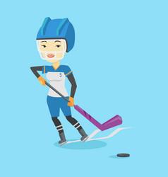 Ice hockey player vector
