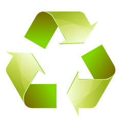 Recycle symbol of conservation green icon vector