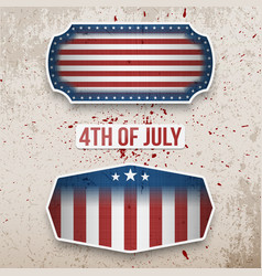 Usa 4th of july realistic labels collection vector