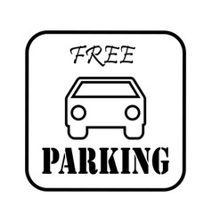 Thin line free parking icon vector