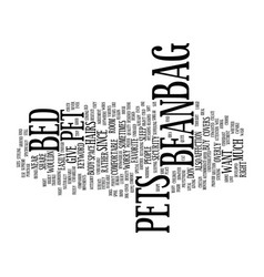 Bean bag chair bed text background word cloud vector
