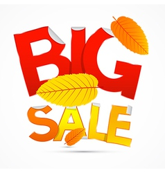 Red and orange big sale sticker - label with vector