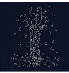 Lace tree vector