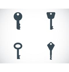 black key icons set vector image
