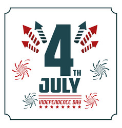 4th july independence day card invitation vector image vector image