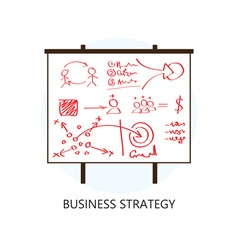 Business Strategy Concept Flat Design Icon vector image