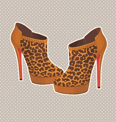 Fancy high heels vector