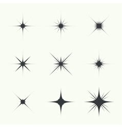 Set of sparkle lights vector