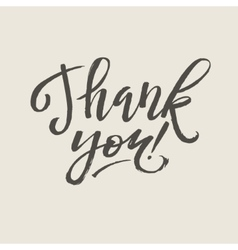 Thank you card calligraphy vector