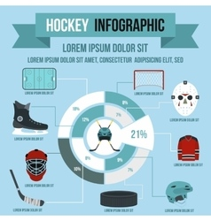 Hockey infographic flat style vector