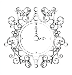 Old vintage clock on white background vector