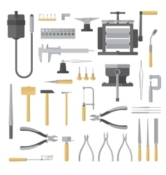 Set of jewelry tools vector