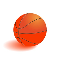 Ball for playing basketball vector image vector image