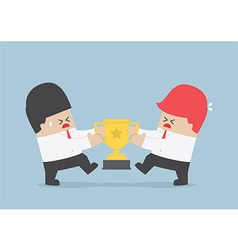 Businessmen fight for the trophy vector image vector image