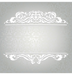 Card with border vector image