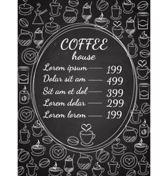 Coffee house chalkboard menu vector image vector image