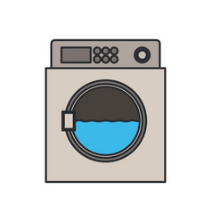 Color image of wash machine in process vector