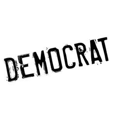 Democrat stamp rubber grunge vector