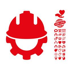 Development icon with valentine bonus vector