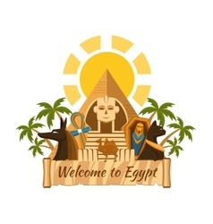 Egypt label vector