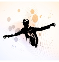 Guy spread his arms vector