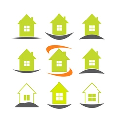 House icon set real estate logo template vector