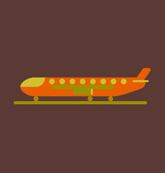 Icon in flat design for airport cargo airplane vector