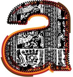 Incas font vector image vector image