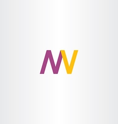 Letters n m w v logo icon vector