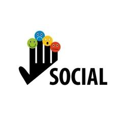 logo social vector image vector image