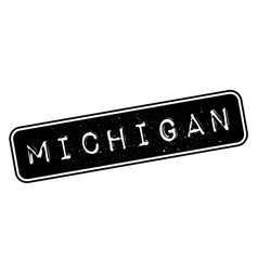 Michigan rubber stamp vector image vector image