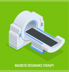 mrt machine for magnetic resonance imaging in vector image