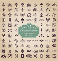 ornamental elements for design and page decoration vector image vector image
