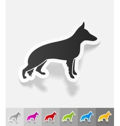 Realistic design element german shepherd vector