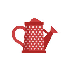 red watering can icon vector image vector image