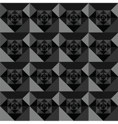 Squares seamless black background design vector