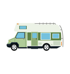 truck camping transport travel tourism vector image vector image