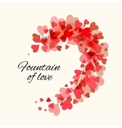 Valentine Day beautiful background vector image