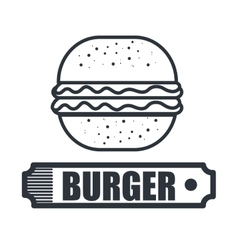 Delicious hamburger isolated icon design vector