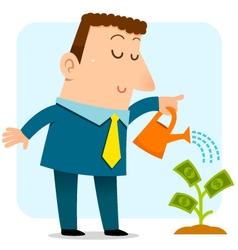 Growing money vector