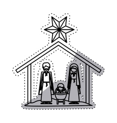 Isolated holy family design vector