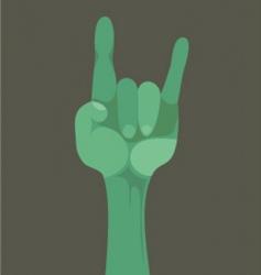rock n roll gesture vector image