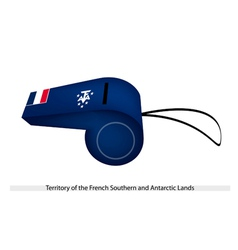 A whistle of french southern and antarctic lands vector